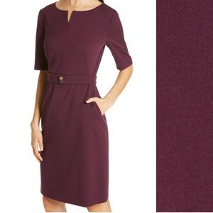 Hugo Boss Dark Berry Debaly Sheath Dress Size 10